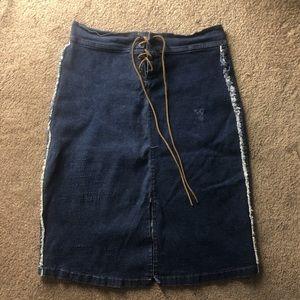 Authentic Prada denim skirt